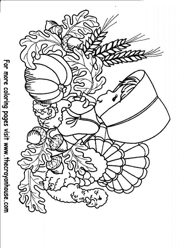 25+ Best Ideas about Thanksgiving Pictures To Color on
