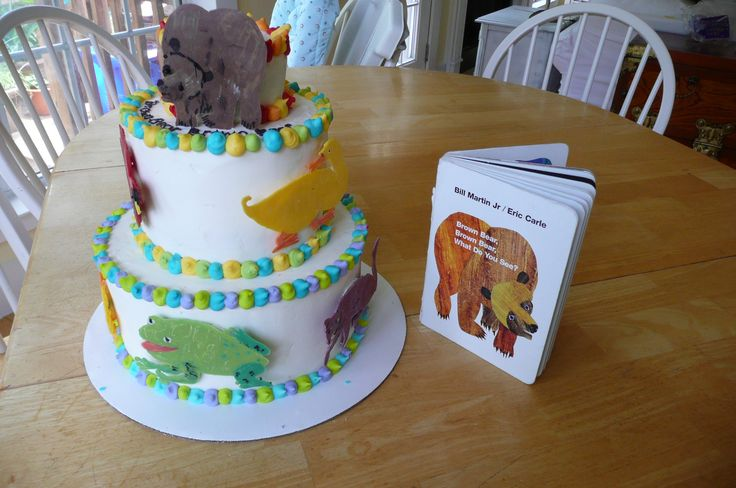 Eric Carle Brown Bear Cake I Made This For Sarah S First