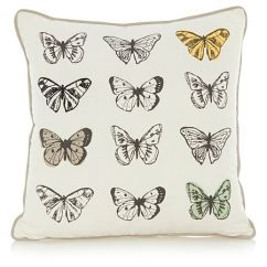 Sofa Throw Covers Asda Thayer Coggin Sleeper George Home Butterfly Cushion | Piles Of Pillows ...