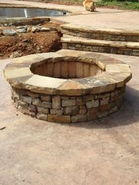 Stacked Stone Fire Pit Pictures to Pin on Pinterest ...