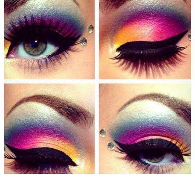 Hawaiian Themed Eye Makeup Makeupview