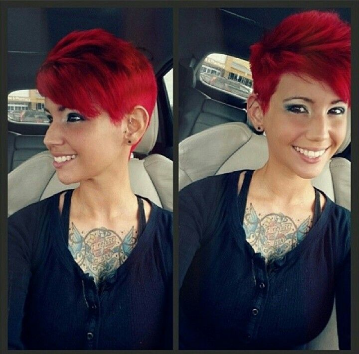 Fire Red Short Hairstyles Fire Hair Trend 2017