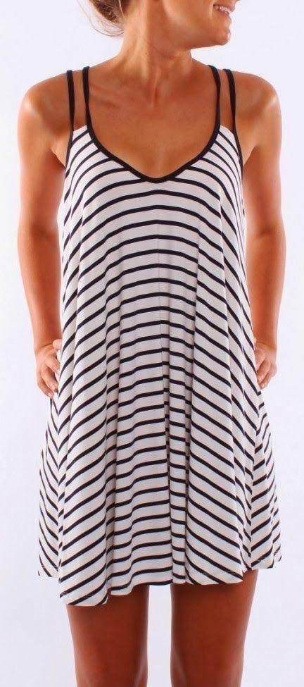 Jean Jail Light Weight Stripes Dress