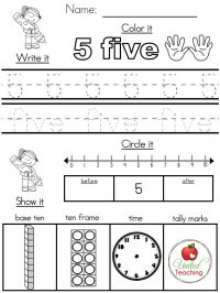Number Sense Worksheets For Preschoolers