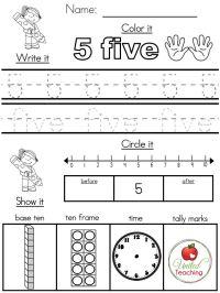 Number Sense Worksheets For Preschoolers - worksheets ...