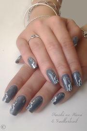1000 ideas grey nail design
