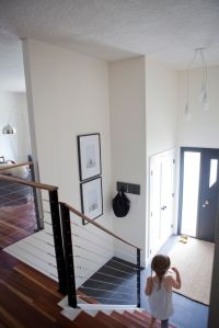 Split level entryway. | Project | Pinterest | Cable ...