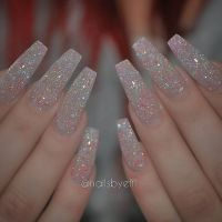 25+ best ideas about Matte Nails Glitter on Pinterest