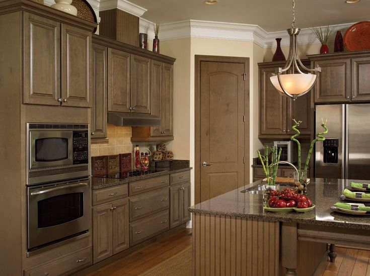 Madison Maple Spanish Moss Kit Kitchen Cabinets from Wellborn Forest  Wellborn Forest