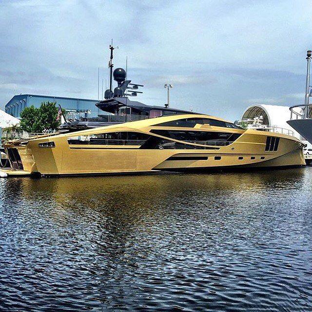 Super Yacht KHALILAH 1575ft48m Palmer Johnson Gold