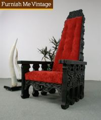 Vampire Home Decor | Vintage Gothic Throne Chair | Furnish ...