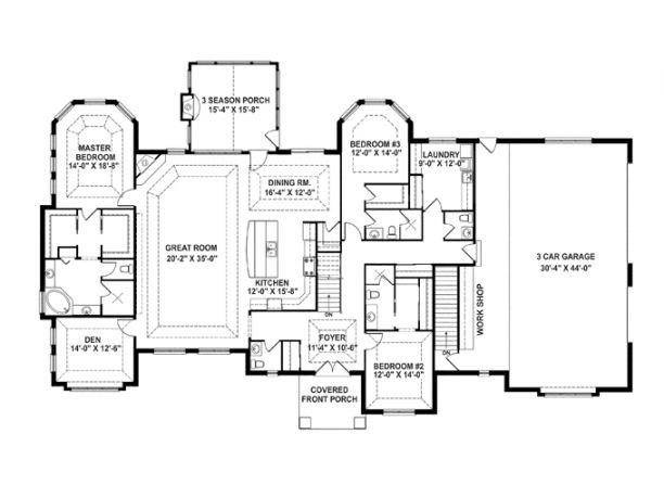 Oh my goodness I love this floorplan! Empty Nest House