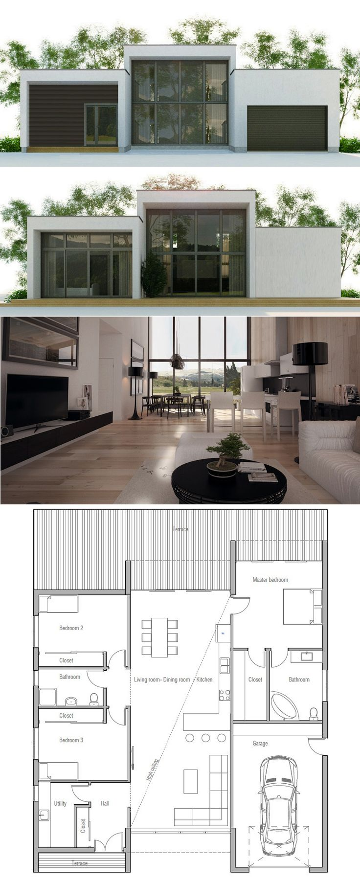 25 Best Ideas About Small Modern House Plans On Pinterest Small