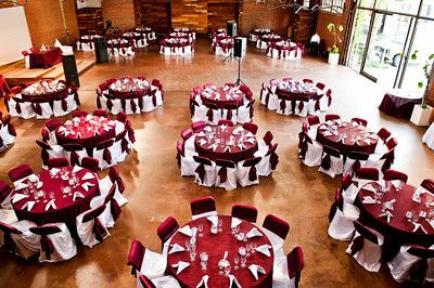 Burgundy And White Themed Decor Wedding Reception Decor