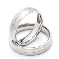 Two Matching 5mm Titanium Wedding Bands Promise Rings for ...