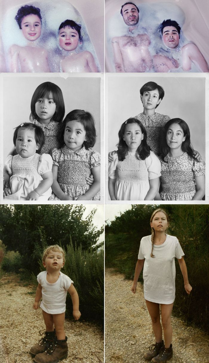 Recreate your favorite childhood photos  Cool Family