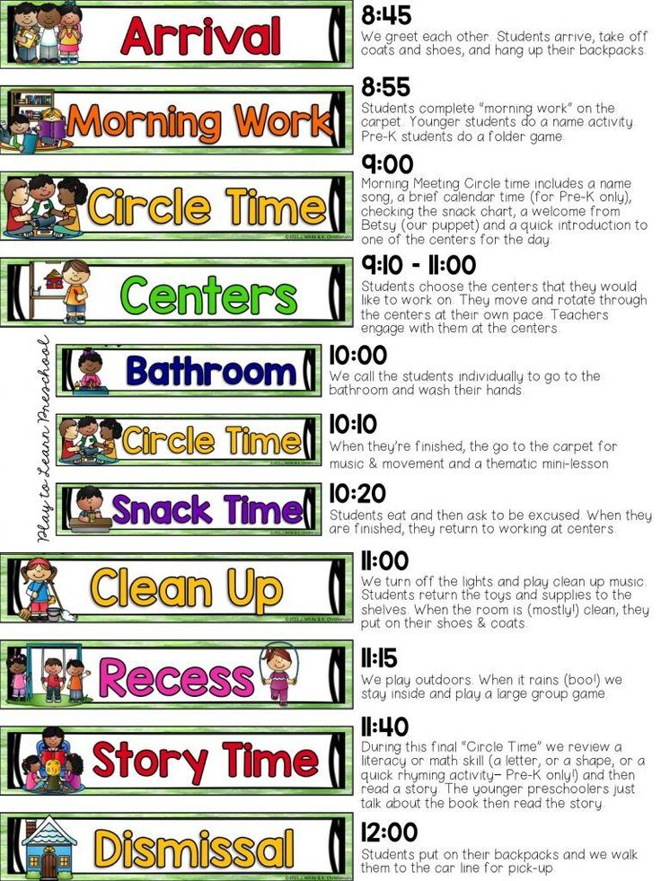 17 Best Images About Classroom Schedule On Pinterest  Preschool Transitions, Daily Pictures And