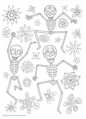 17 Best images about skull coloring/ Dia de los Muertos on