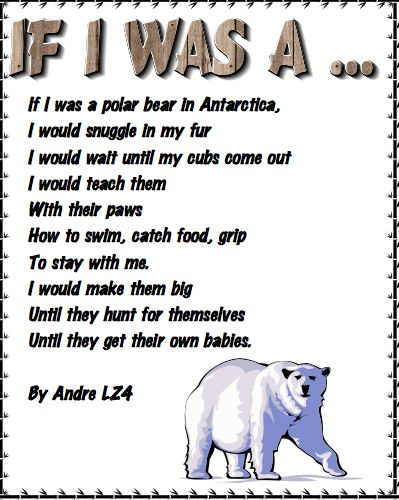 Polar Bear Poems For First Grade Google Search Social