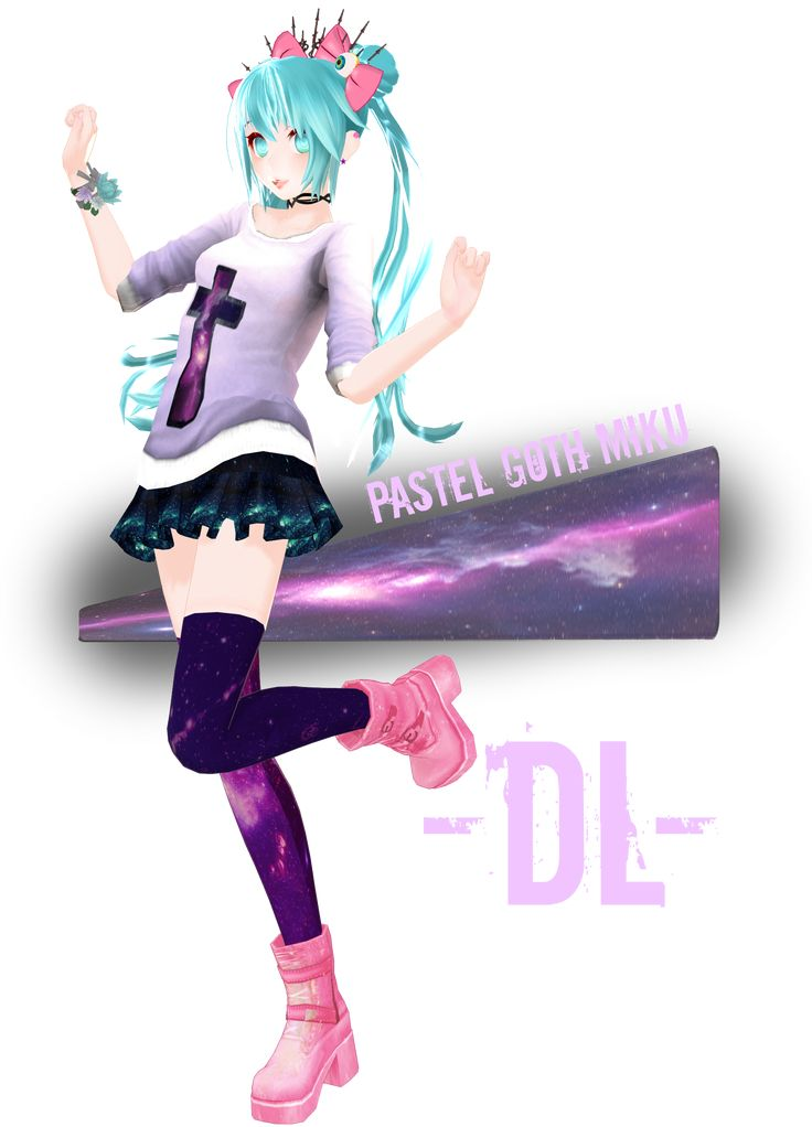 Neko Jacket Anime Wallpaper Girl Pastel Goth Miku Dl By Crystallyna Deviantart Com On