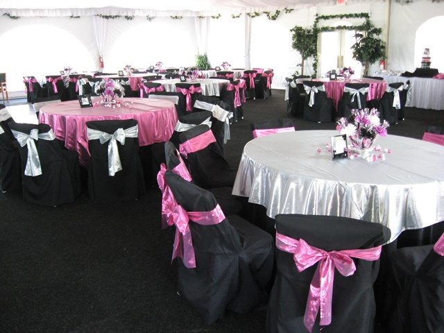 pink and black table setting ideas  MickeyMinnie Mouse