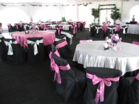 pink and black table setting ideas | Mickey/Minnie Mouse ...