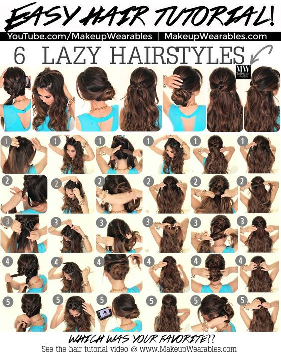 25 Best Ideas About Easy Lazy Hairstyles On Pinterest Cute