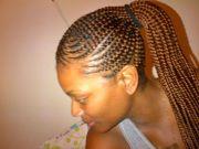 cornrows ponytail hairstyles