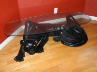 awesome RARE vintage panther animal coffee table statue ...