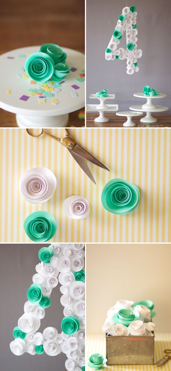 Spiral Flower Number DIY |