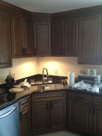 Two Poor Teachers Kitchen remodel, corner sink, stainless ...