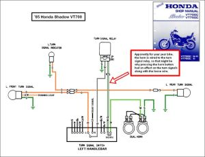 1988 honda shadow vt1100 turning signal wiring diagram | 2007 Honda Shadow 600 | Rays