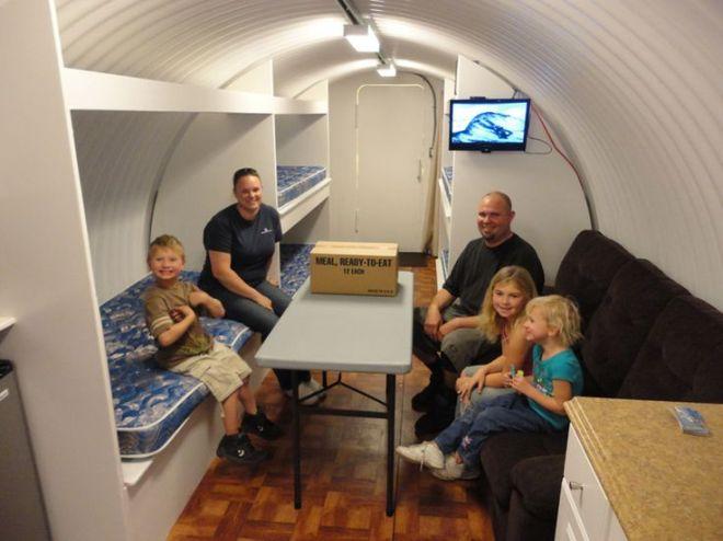 Homemade underground tornado shelters bomb shelters
