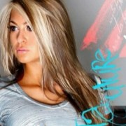 long brown hair. with blonde