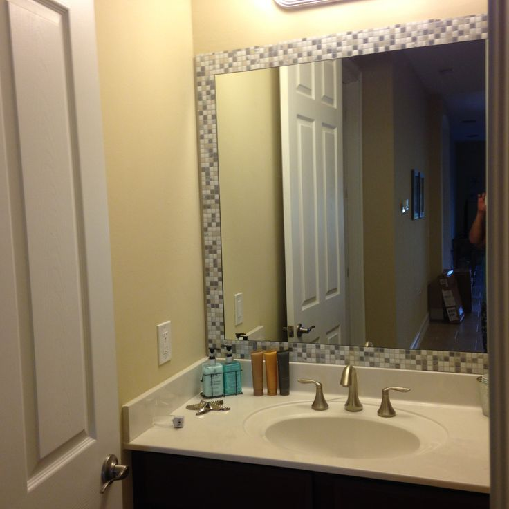 25+ best ideas about Tile mirror frames on Pinterest