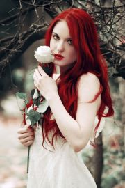 beautiful girls with red color