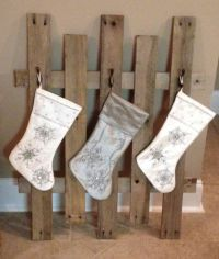 Stocking holder made out of pallets | Christmas ...