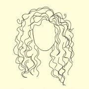 curly hair drawing ideas
