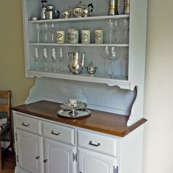 Antique Kitchen Hutch Tiles Wall Painted Hutch..beadboard Backing, Open Shelves | For The ...