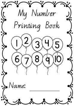 Number Printing Handwriting Book 1