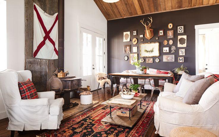 Peek Inside A Rustic, Reclaimed, And Repurposed Cabin In