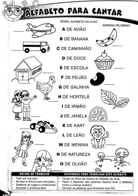 ESCOLA DOMINICAL INFANTIL: Atividades de Alfabetização ou