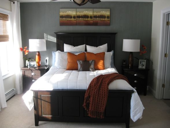 sunset orange for accent wall bedroom 25+ best ideas about Burnt orange bedroom on Pinterest
