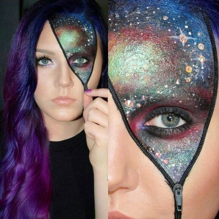 Galaxy make-up for Halloween