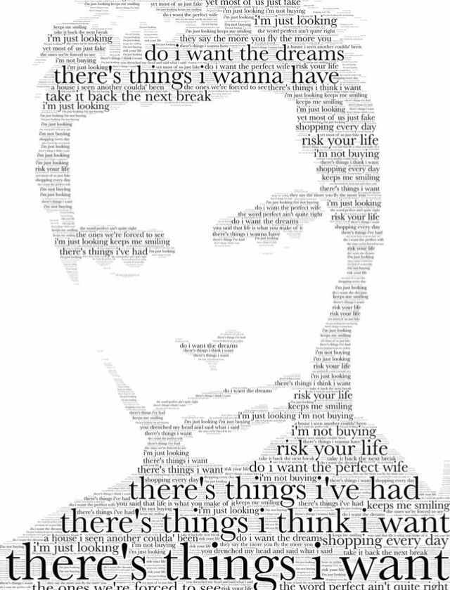 Kelly Jones. Made using the lyrics from Just Looking by