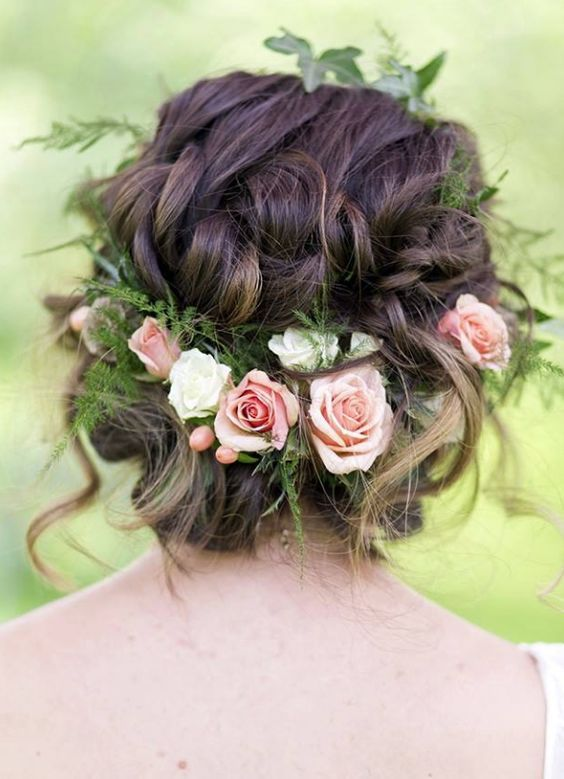 25 Best Ideas About Flower Hairstyles On Pinterest Simple Bun