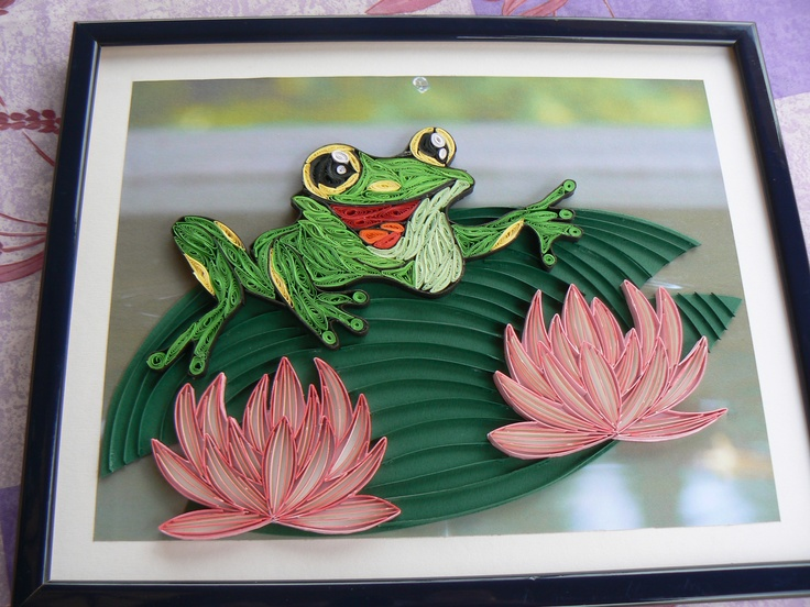 17 Best Images About Quilling Frogs On Pinterest Blank