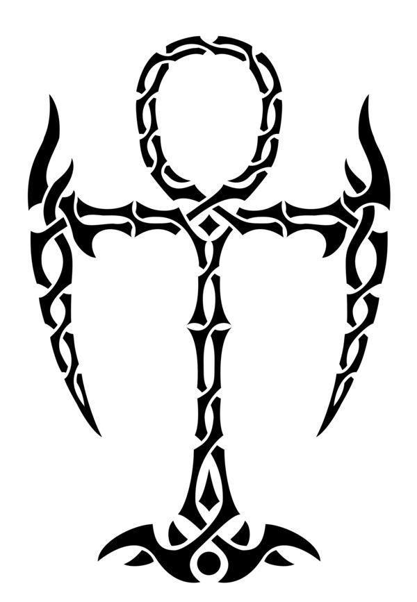 Tribal Ankh Tattoo Design By Lakota Phoenix