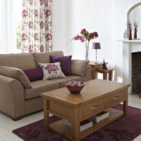 Purple Living Room Interior Design Ideas: Plum Perfection ...