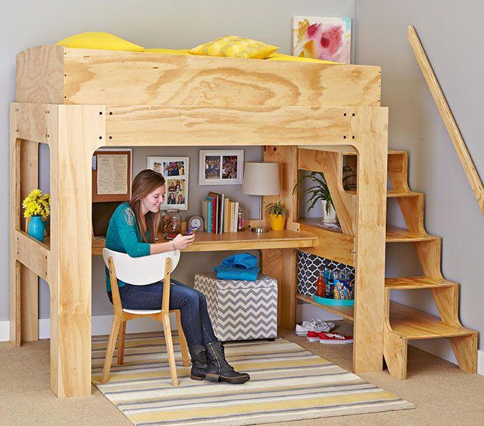 24 Best Images About Loft Bed Plans On Pinterest Loft
